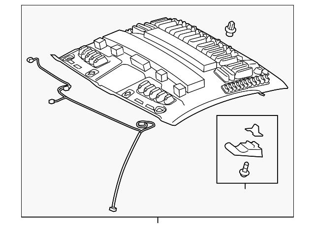 TOYOTA Genuine 74320-0C510-B1 Visor Assembly