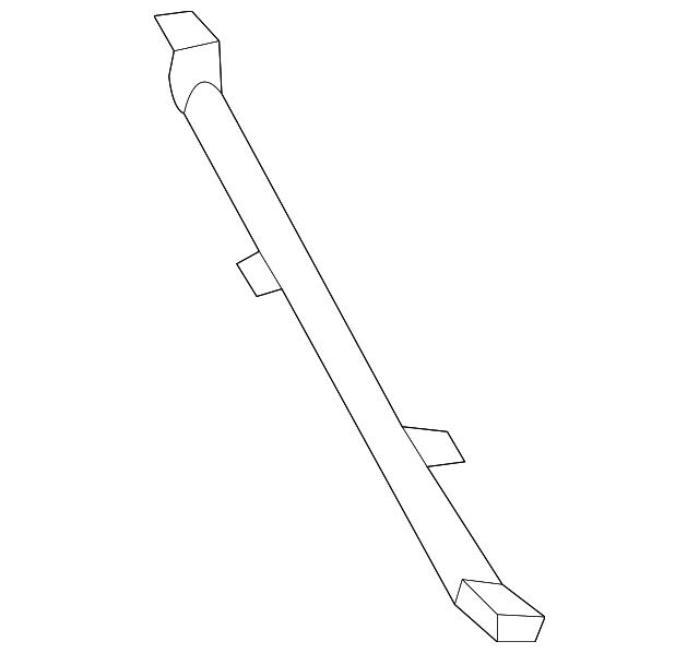 2015-2020 Acura TLX SEDAN Brace, R Front Bulkhead 74750
