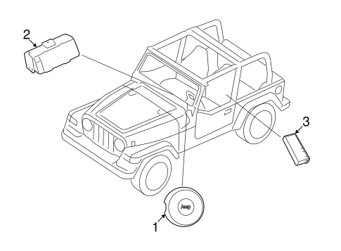 Air Bag Components For 2018 Jeep Wrangler Jk