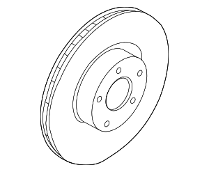 Disc Brake Rotor - Ford (KS7Z-1125-B)