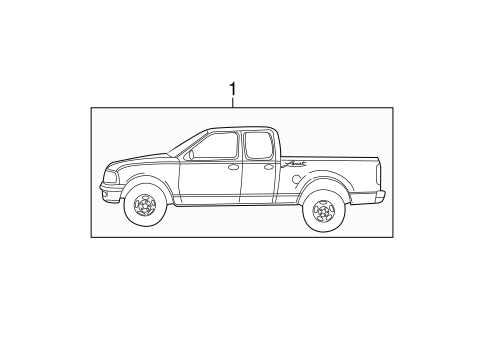 Body/Stripe Tape for 2003 Ford F-150 #4