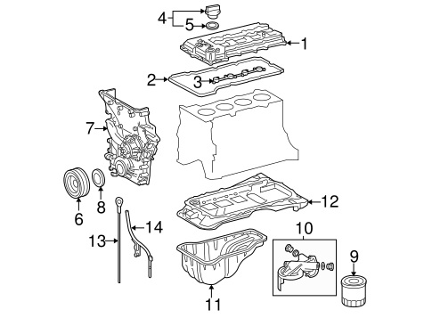 ENGINE/ENGINE PARTS for 2012 Toyota Tacoma #1