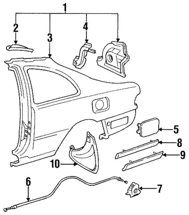 1992 1996 Toyota Camry Extension 61627 33010