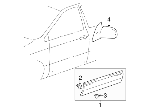 BODY/EXTERIOR TRIM - FRONT DOOR for 2001 Toyota Sienna #1