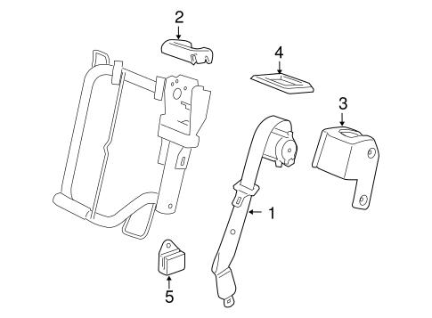 Oem 2007 GMC Yukon Rear Seat Belts Parts Gmpartsonline. Electricalrear Seat Belts For 2007 GMC Yukon 1. GM. Diagram 2001 GMC Yukon Xl Belts At Scoala.co