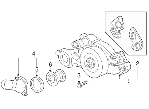 GM OEM-Engine Water Pump Gasket 12570307