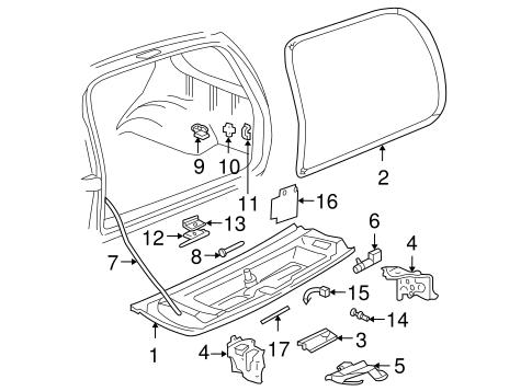Oem 2000 Chevrolet Blazer Tailgate Parts