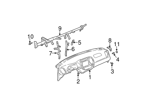 Instrument Panel Center Bracket