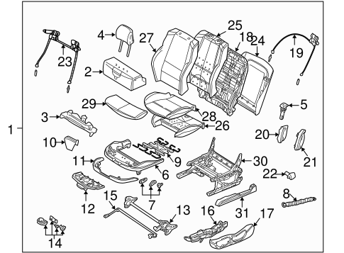 Front Seat Components For 2004 Bmw 330ci