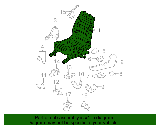 TOYOTA 71110-02011 Seat Frame Assembly