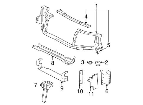 lower baffle gm 15253120 oem gm parts. Black Bedroom Furniture Sets. Home Design Ideas