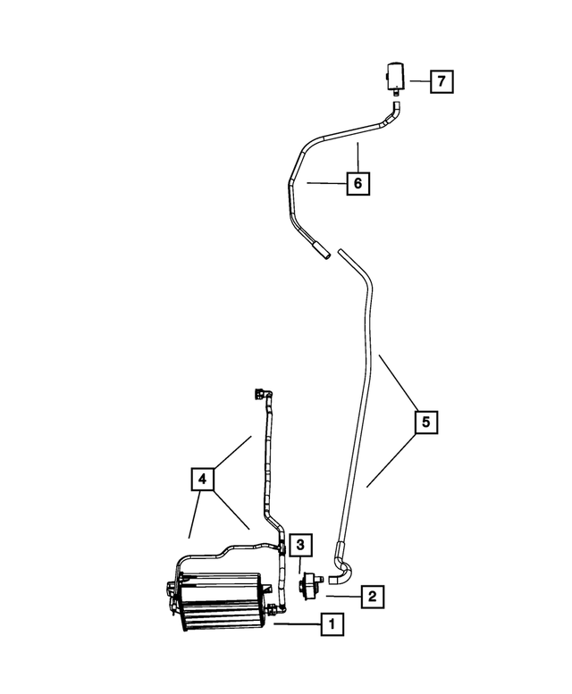 52855827AB Genuine Chrysler Evaporative System Leak Detector