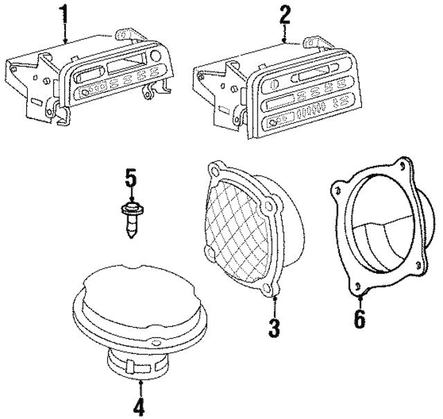 1991 1999 Saturn Front Dr Speaker 21020210