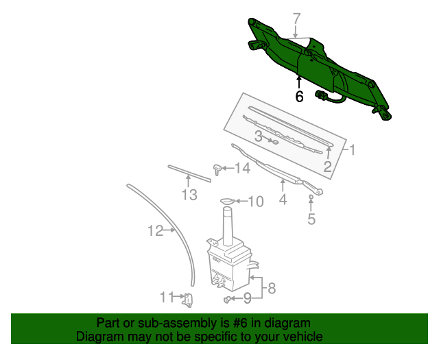 Genuine Hyundai 98320-26030 Windshield Wiper Arm Assembly
