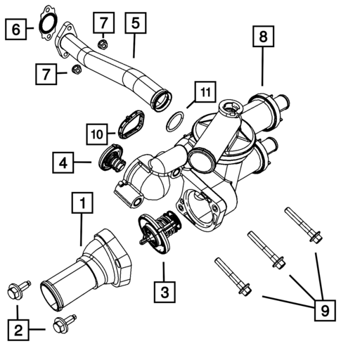 Water Pump And Related Parts For 2013 Jeep Patriot