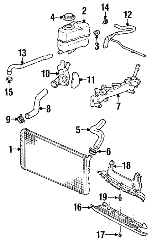 Radiator Components For 2001 Oldsmobile Intrigue