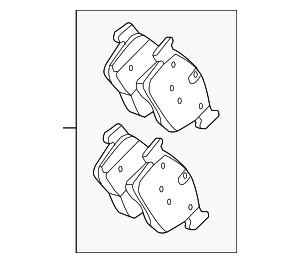 Brake Pads - Jaguar (T2H7448)