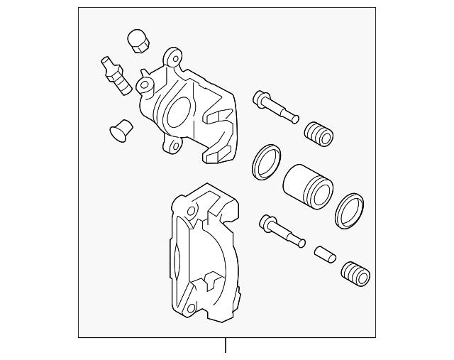 caliper body kit rear dis