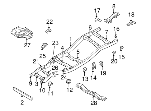 Frame Components For 2000 Nissan Frontier
