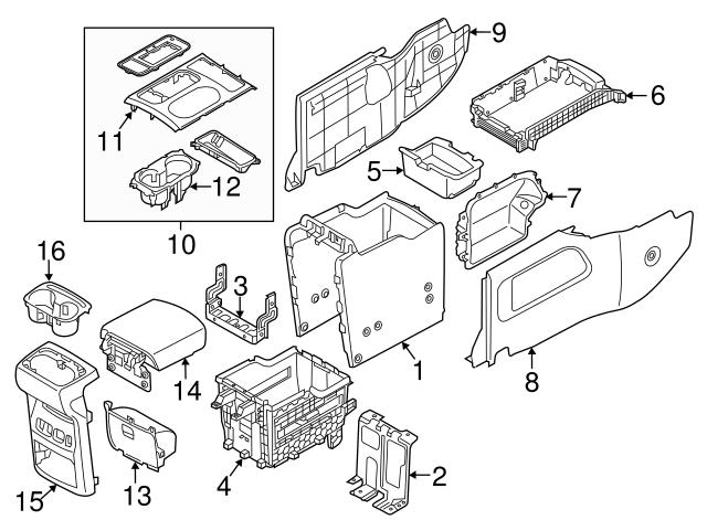2015 2018 Kia Sedona Storage Tray 84613 A9000daa