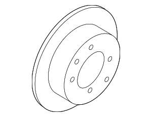 Disc Brake Rotor - Hyundai (58411-0A110)