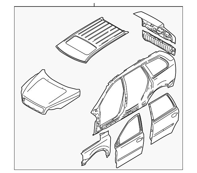 2003 2014 volvo xc90 body assembly 31213597 courtesyvolvoparts 2007 Volvo XC90 Problems body assembly volvo 31213597