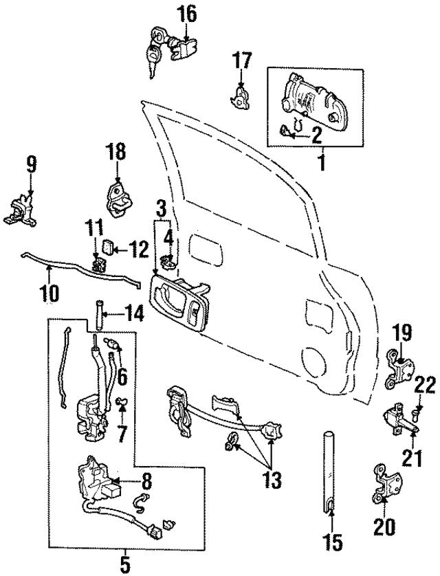 Genuine Honda 72660-SR4-J02ZJ Handle Assembly