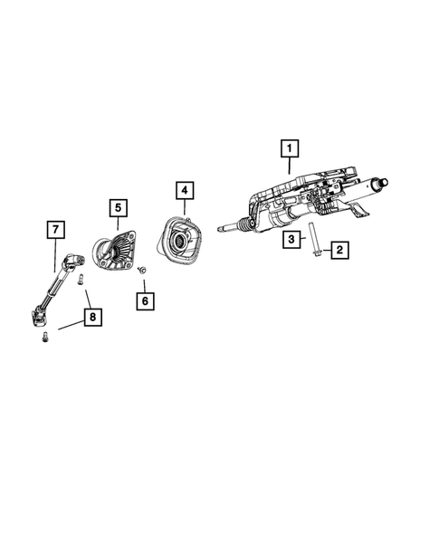 Steering Column and Intermediate Shaft for 2018 Jeep Grand Cherokee #0