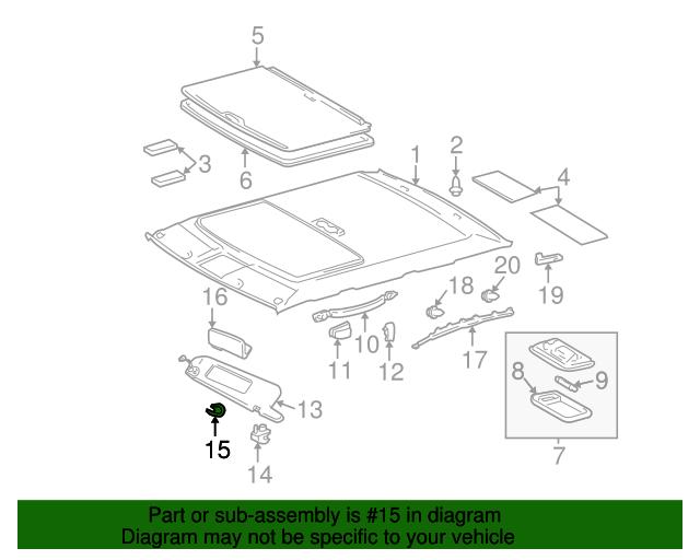 TOYOTA Genuine 74320-AC291-A1 Visor Assembly