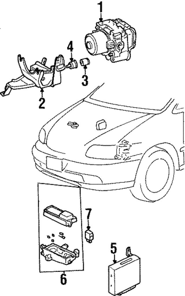 1998 Honda Odyssey 5 Door Abs Unit 39790 Sx0 A02