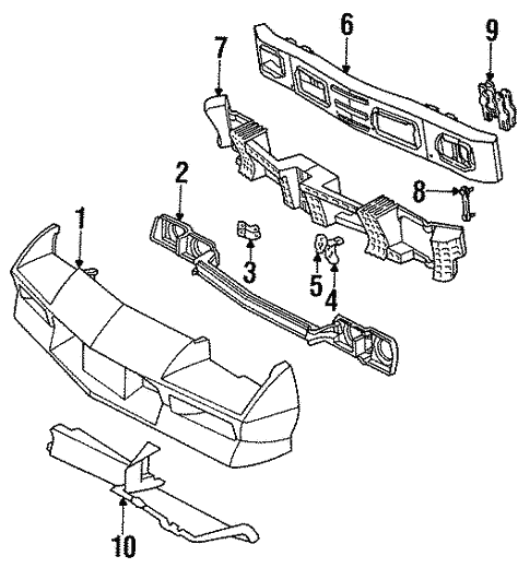 Bumper Amp Components Front For 1990 Chevrolet Camaro