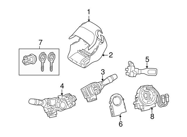 2013 2018 Toyota Ignition Lock Cylinder 69057 0r050