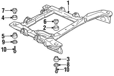 Suspension Mounting for 1991 Pontiac Grand Prix #0