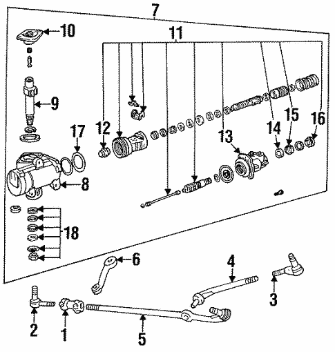 steering gear  u0026 linkage for 1995 ford bronco