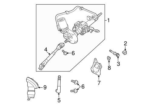 Steering Column Assembly for 2012 Toyota Prius Plug-In #0