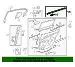 Belt Weather-Strip - Lexus (68174-30162)