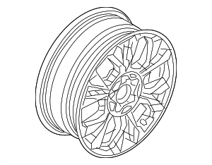 Wheel, Alloy - Fiat (6rl63uezaa)