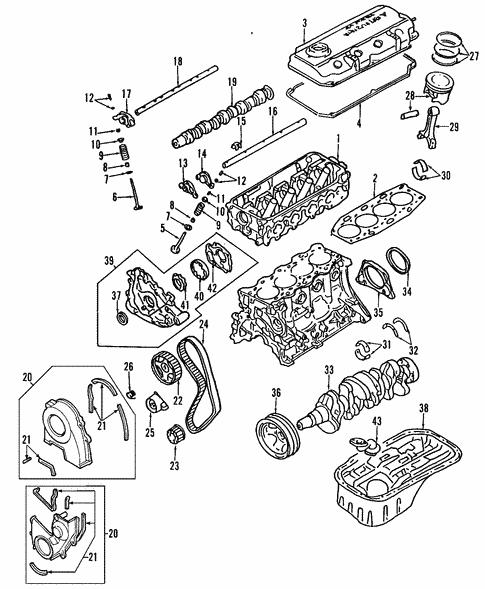 2001 Mitsubishi Mirage Engine Diagram