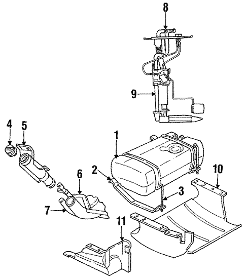 Fuel System Components For 1998 Jeep Grand Cherokee