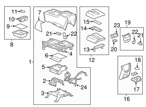 oem 2011 chevrolet silverado 1500 center console parts. Black Bedroom Furniture Sets. Home Design Ideas