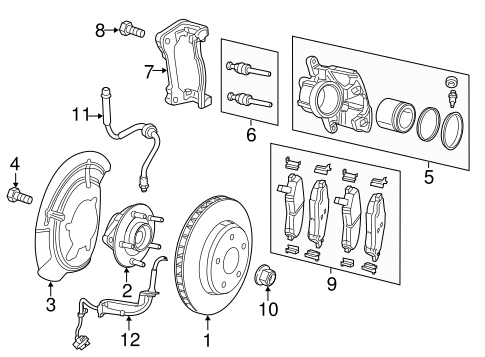 [DIAGRAM_38DE]  Front Brakes for 2016 Fiat 500X | Mopar Parts | Fiat Brakes Diagram |  | Mopar Parts - Mopar Online Parts