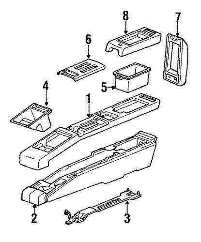 oem 1989 pontiac bonneville console parts