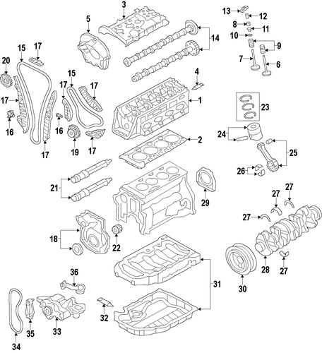 genuine oem vw timing chains