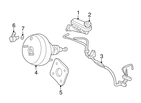 master cylinder - components on dash panel for 1998 chrysler concorde #0