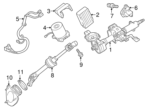 STEERING/STEERING COLUMN ASSEMBLY for 2015 Toyota Camry #1