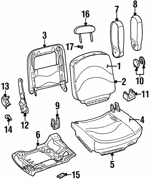 Front Seat Components For 2002 Mercury Grand Marquis