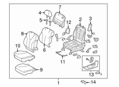 TOYOTA Genuine 71862-33050-B1 Seat Cushion Shield