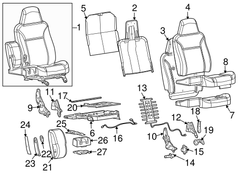 2011 Chevy Equinox Front Seat Diagram