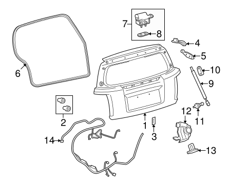 BODY/LID & COMPONENTS for 2010 Scion xD #1