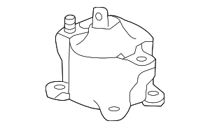 Rubber Assembly, Front Engine Mounting - Honda (50830-T2F-A01)